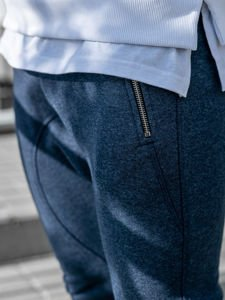 Spodnie dresowe baggy męskie granatowe Bolf 43S-S