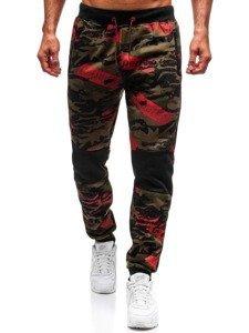 Spodnie dresowe męskie zielone Denley 55059
