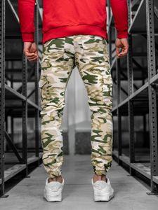 Spodnie joggery bojówki męskie moro-beżowe Bolf 0404