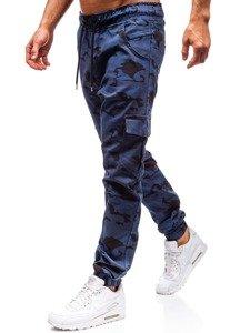 Spodnie joggery bojówki męskie niebieskie Bolf 0404