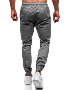 Spodnie joggery męskie grafitowe Denley KA951