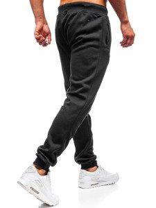 Spodnie męskie dresowe czarne Denley 55087