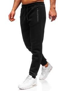 Spodnie męskie dresowe czarne Denley JX8975