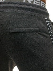 Spodnie męskie dresowe grafitowe Denley 2040S