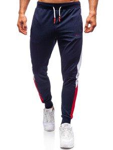 Spodnie męskie dresowe granatowe Denley 6825