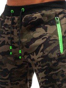 Spodnie męskie dresowe moro-zielone Denley 55022