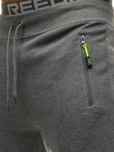 Spodnie męskie dresowe szare Denley JX9292