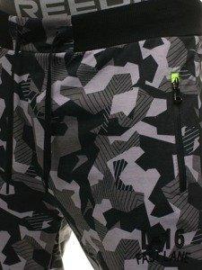 Spodnie męskie dresowe szare Denley W1117