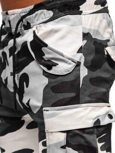 Spodnie męskie joggery bojówki moro-szare Denley 1005