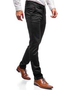 Spodnie wizytowe męskie czarne Denley 7625