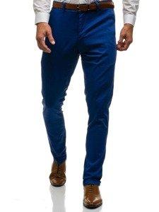 31faf2c3dad078 Spodnie wizytowe męskie niebieskie Denley 4326