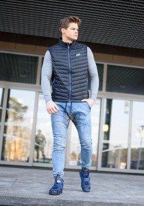 Stylizacja nr 153 - kamizelka męska, longsleeve z nadrukiem, spodnie joggery, buty sneakersy