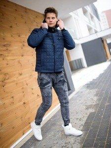 Stylizacja nr 158 - kurtka przejściowa, spodnie jeansowe joggery, buty sneakersy