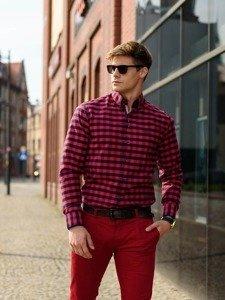 Stylizacja nr 235 - okulary przeciwsłoneczne, koszula w kratę, spodnie chinosy