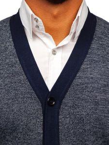 Sweter męski bez rękawów granatowy Denley 8133