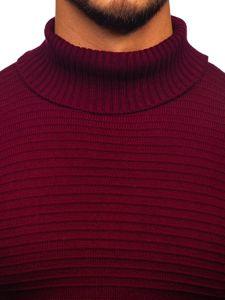 Sweter męski golf bordowy Denley 4518