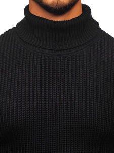 Sweter męski golf czarny Denley 4368