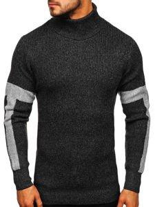 Sweter męski golf grafitowy Denley H1927