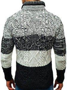 Sweter męski grafito-czarny Denley 20003