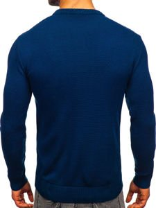 Sweter męski niebieski Denley 312