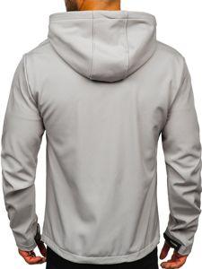 Szara kurtka męska przejściowa softshell Denley KS2181
