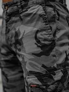 Szare szorty krótkie spodenki męskie bojówki moro Denley 6137