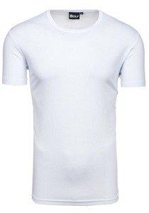 T-shirt męski bez nadruku biały Denley t30